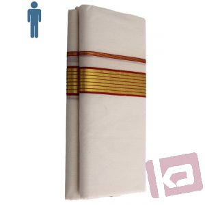 Mens Color Mundu with border