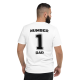 Number 1 Dad T-shirt White