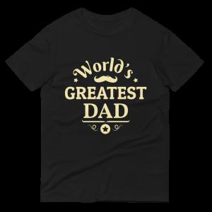 World's Greatest Dad T-shirt Black