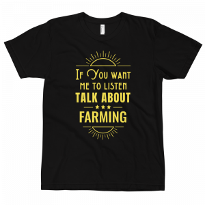 Talk About Farming T-shirt Black