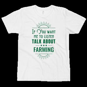 Talk About Farming T-shirt White